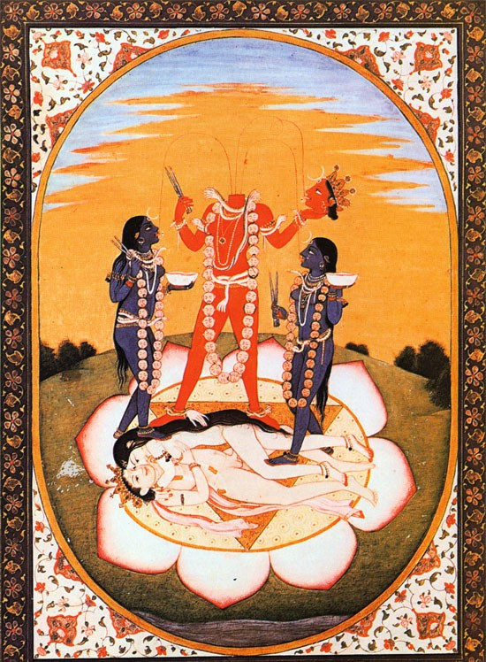 c. 1800. Mahavidya Chinnamasta, Goddess of Wisdom,d.