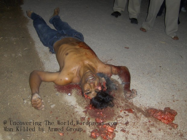 This man was killed in front of his home, two of his sons were abducted by the killers.-ss