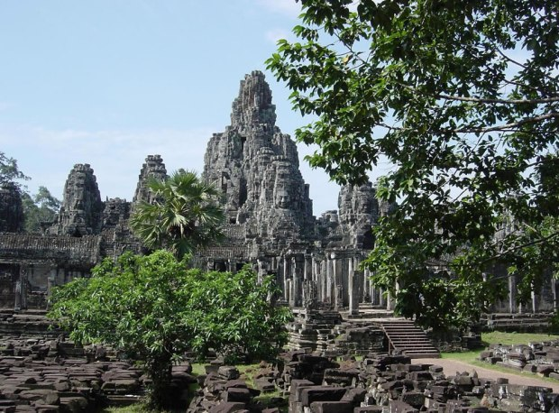 13th-century-Bayon-Khmer-Buddhist-temple-—-at-Angkor-Cambodia
