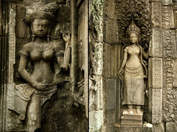 Angkor-Thommanon-relief-A-statue-at-the-Bayon-temple-in-Angkor-Thom-Cambodia