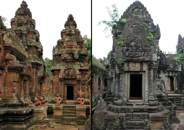 Banteay-Srei-on-left-Banteay-Samre-on-right