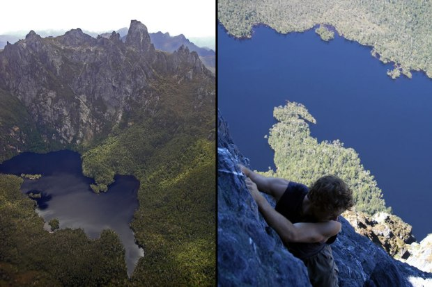 Flying-over-and-climbing-Federation-Peak-Tasmania