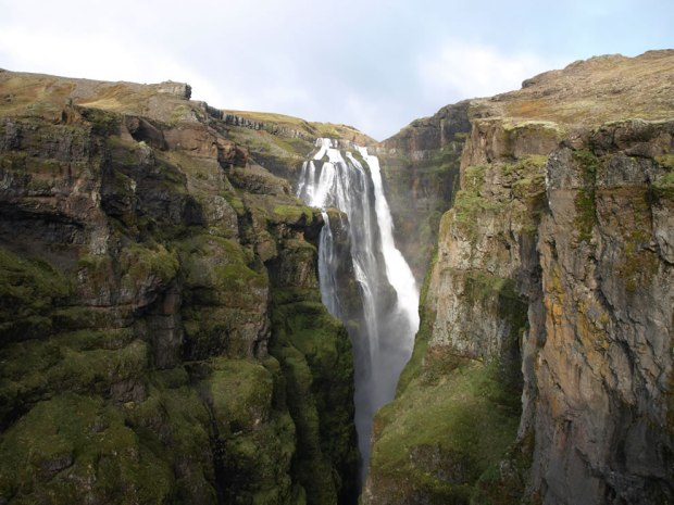 Glymur-panorama-of-what-used-to-be-the-tallest-waterfall-in-Iceland