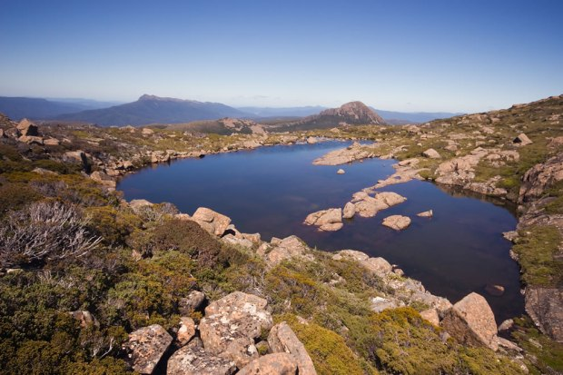Lake-on-Anne-Plataeu-Southwest-National-Park-Tasmanian-Wilderness-World-Heritage-Area-Tasmania-Australia