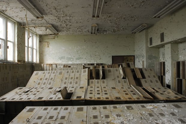 Locker-Stumble-at-abandoned-school-in-Cleveland-Ohio