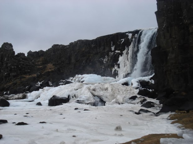 Oxarafoss-In-Winter