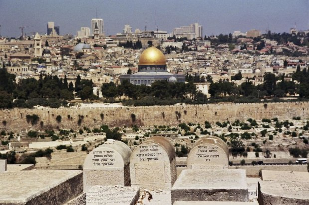 VIew-of-the-Mount-of-Olives-the-Temple-Mount-and-the-Jewish-Cemetary-in-the-foreground